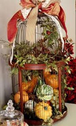 Unique Autumn Birdcage