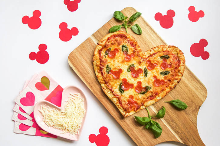 Disney Heart Pizza