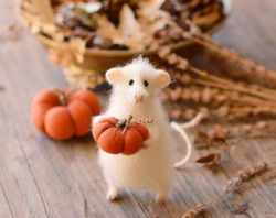 Whimsical Autumn Mouse