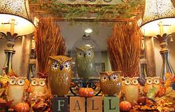 Autumn Owl Mantel