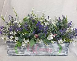 Oblong Lavender Floral