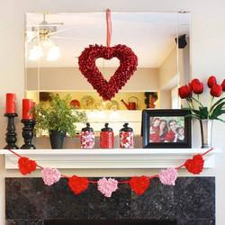 Valentine's Fireplace Mantle