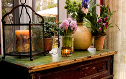 Lantern & Various Florals