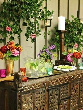 Floral Beverage Station