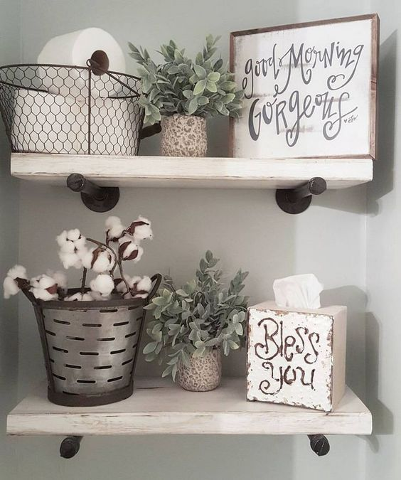 Country Bathroom Shelves