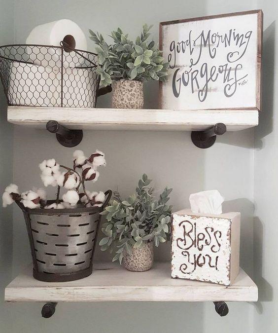 Country Bathroom Shelves