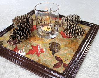 Framed Leaves Tray