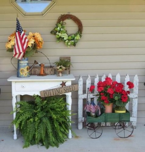 Americana Front Porch Decor'