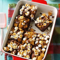 Fudgy Smores Brownies