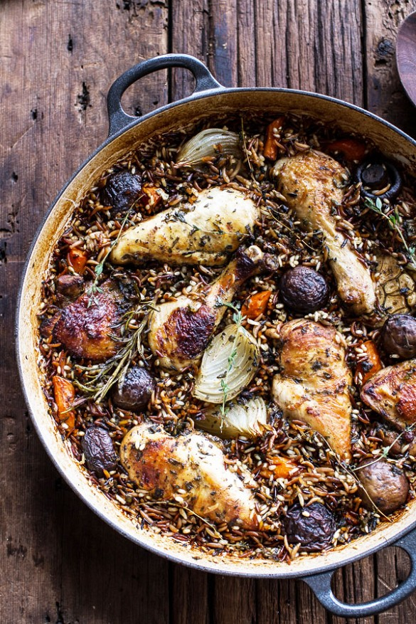 Autumn Roasted Chicken w/Wild Rice