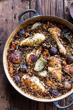 Autumn Roasted Chicken w/Wild Rice
