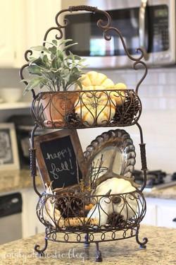 Iron Tiered Basket of Treasures