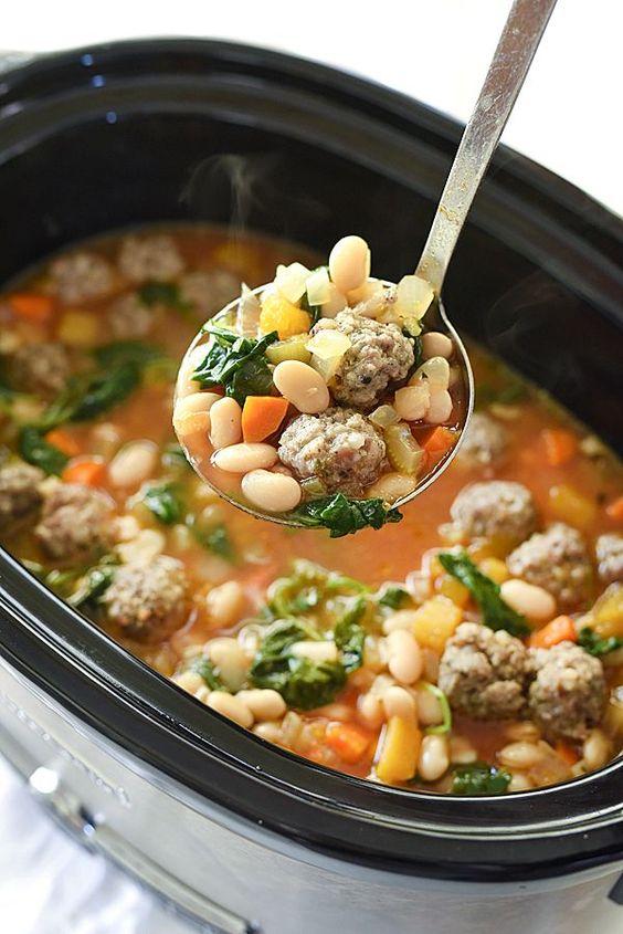 Tuscan White Bean & Sausage Soup