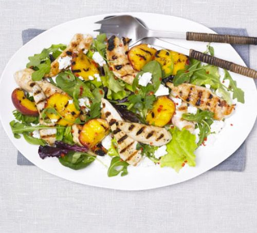 Grilled Chicken & Peach Salad