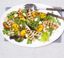 Grilled Chicken & Peach Salad