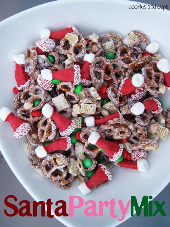 Santa Hat Snack Mix