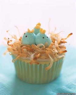 Nesting Baby Bluebird Cupcakes