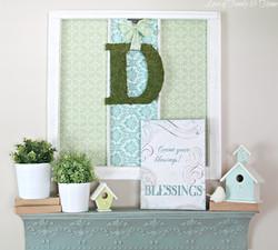Birdhouse & Greenery Mantle