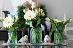 Fresh Florals w/Stone Birds