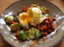 Sweet Potato & Brussels Sprouts Hash