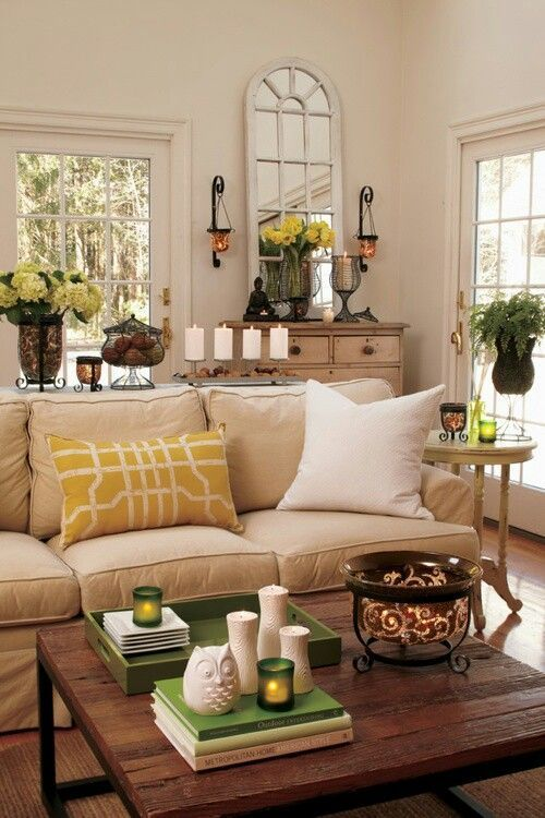 Shades of Green Living Area