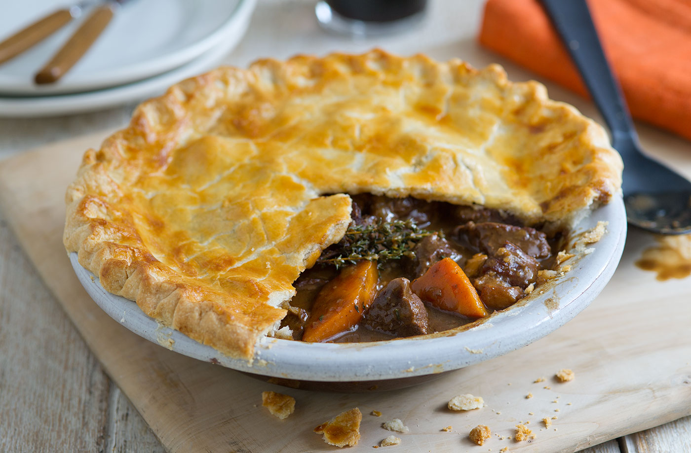 Irish Beef & Guinness Pie
