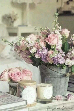 Array of Roses in Vintage Pail