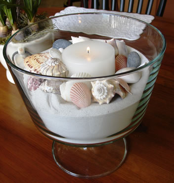 Seashells & Sand Centerpiece