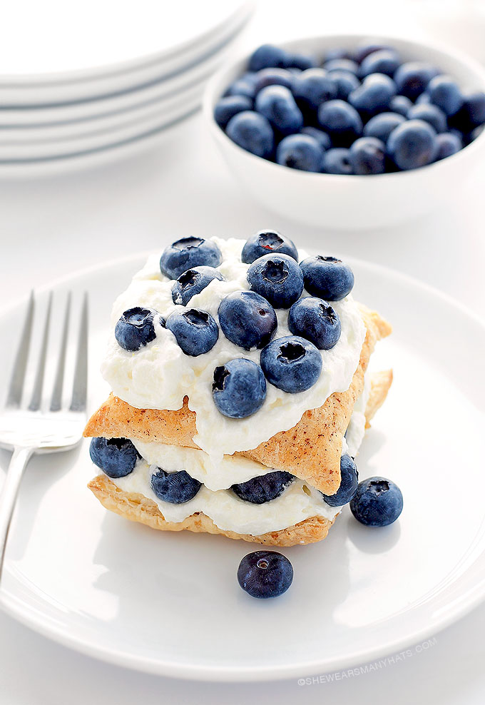 Blueberry-Lemon Napoleon