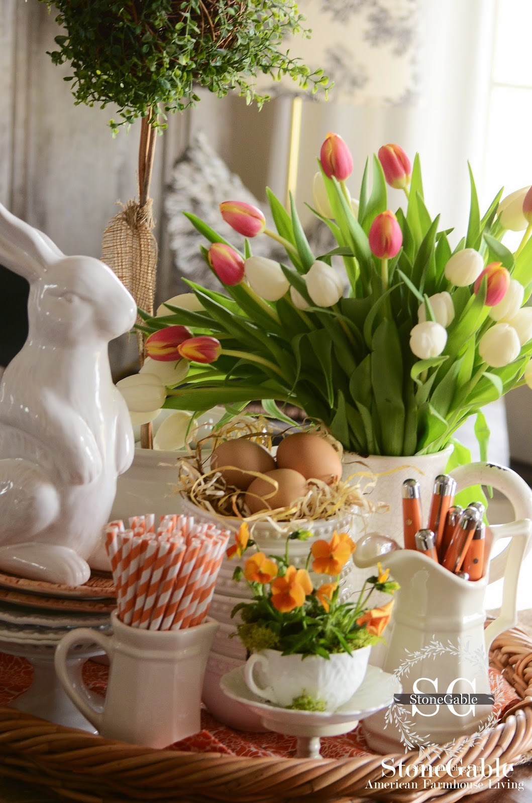 Spring Table Cluster Decor