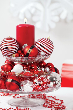 Red & White Bulb Centerpiece