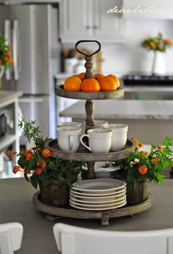 Tangerine Serving Tray