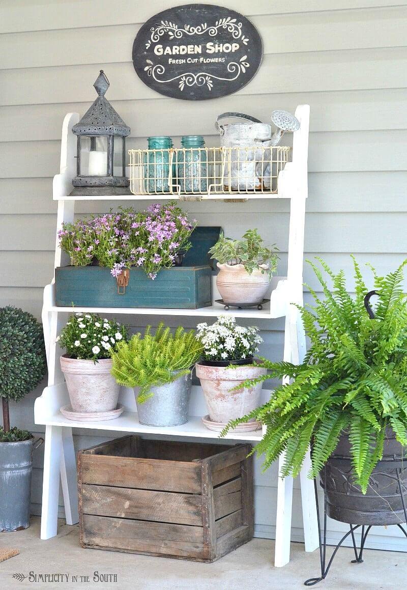 Lovely Garden Shelf