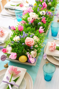 Vibrant Spring Flower Tray