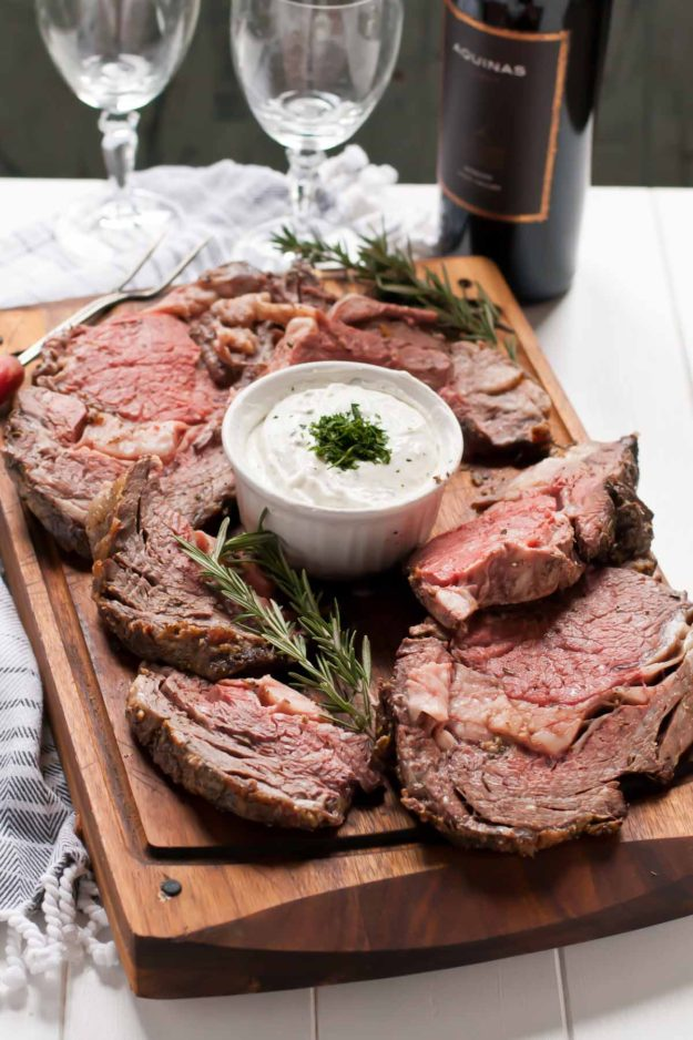 Garlic Rosemary Prime Rib