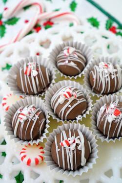 Brownie Peppermint Truffles