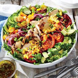 Chicken & Veggie Summer Salad
