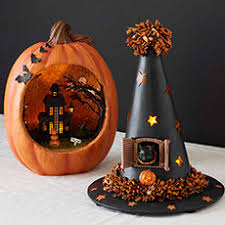 Haunted Pumpkin and Witch Hat