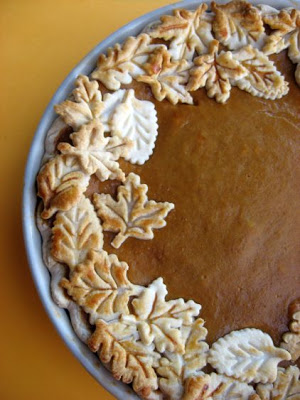 Leaf Crust Pumpkin Pie