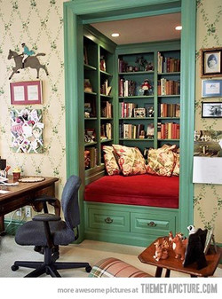 Comfy, Clever Reading Nook