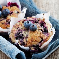 Decadent Blueberry Muffins