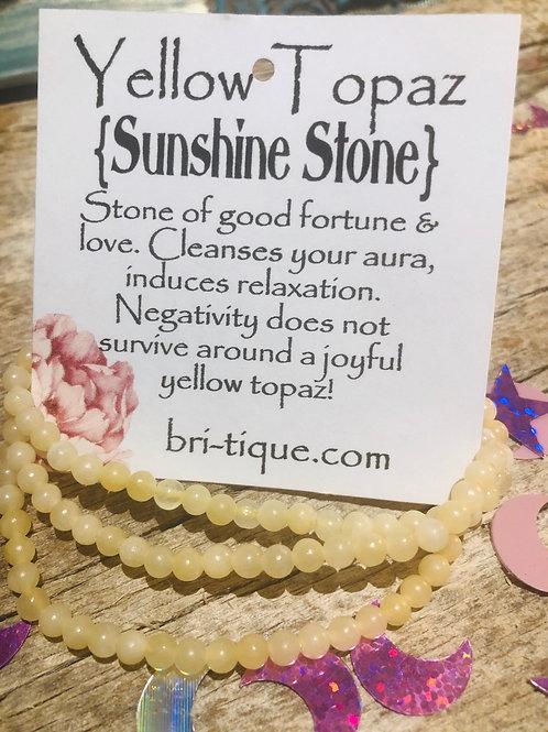 Yellow Topaz {Sunshine Stone}