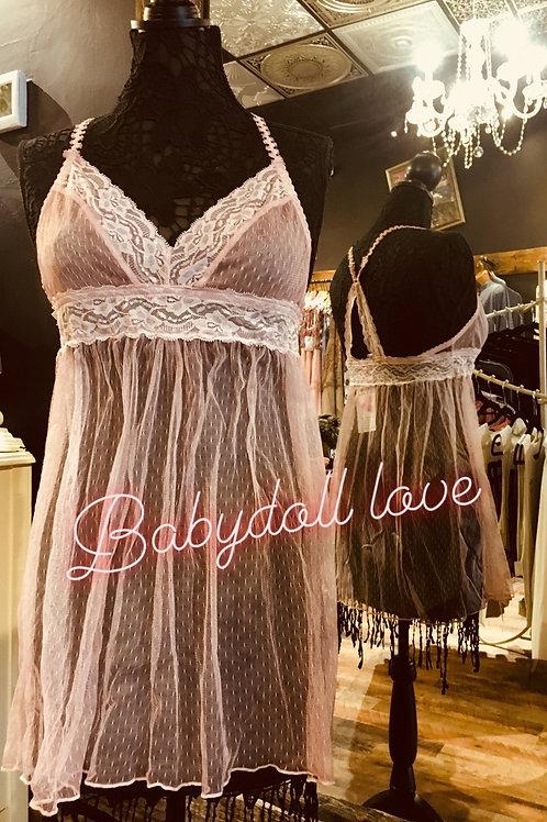 Babydoll Sheer Dress