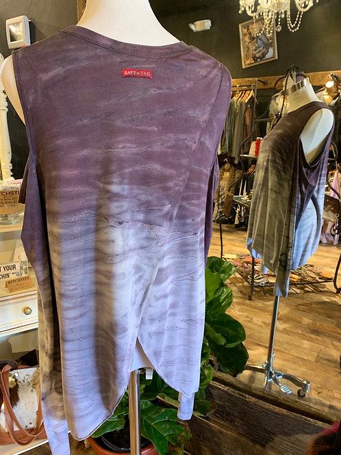 Hardtail Ombré tie dye wrap top