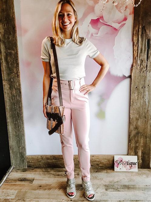 Pink Pants w/ Belt