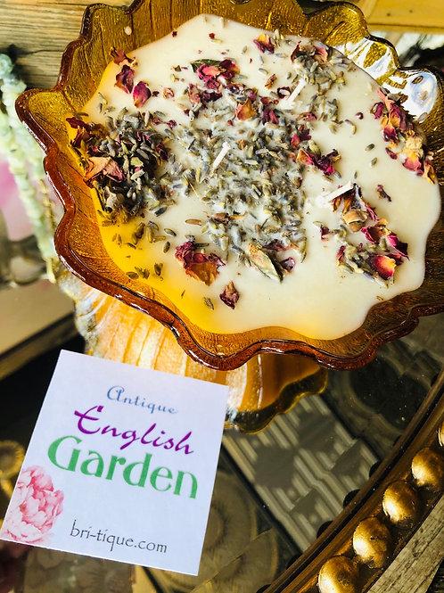 Flower Glass Bowl English Garden