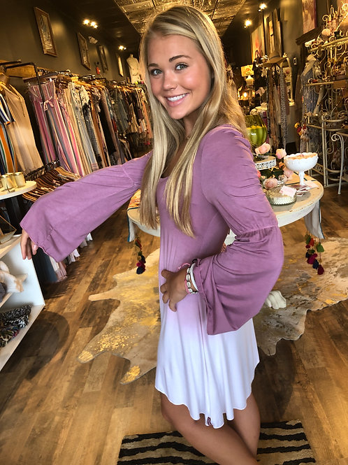 Pink & White Ombré Lace Dress
