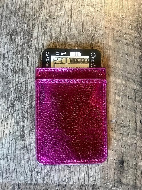 Pink Metallic CC Phone Pocket