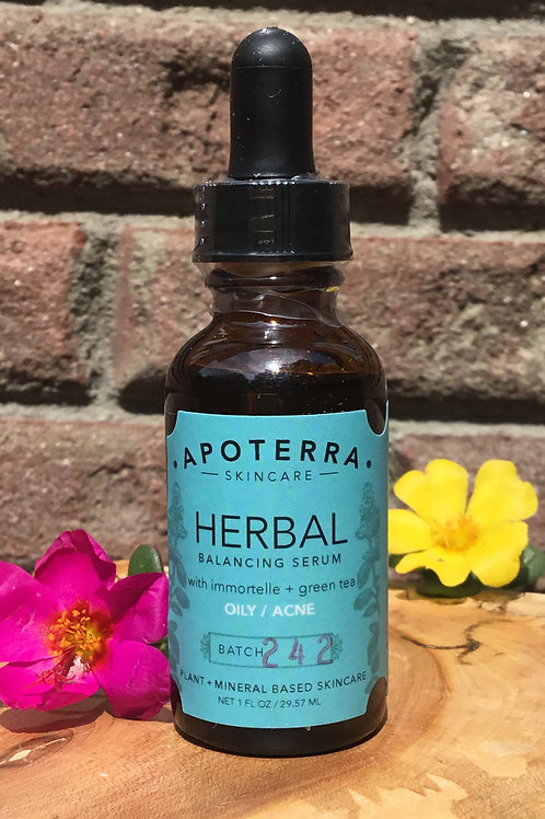 Herbal Balancing Serum with Immortelle + Green Tea