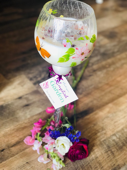 English Garden Swirly Glass